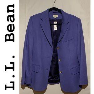 NWT! L.L. Bean Petite Wool Cashmere Blazer